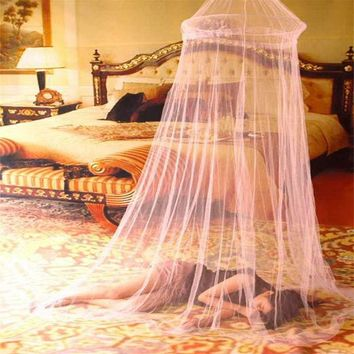 ac NOOW2 Universal Elegant Round Lace Insect Bed Canopy Netting Curtain Dome Polyester Bedding Mosquito Net Home Furniture