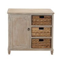 Stylish and Trendy Multipurpose Wood Basket Dresser