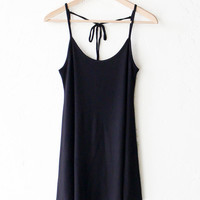 Tie-Back Cami Dress - Black