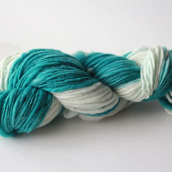 Teal Delights - Two Tone Merino Singles Yarn - 90 grams