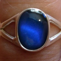Mood Ring Sterling Silver 9MM x 6MM Oval