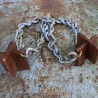Joined Chains and Chunks Metal Sculpture from Artist Julie Kindt
