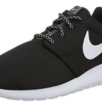 NIKE WOMENS ROSHE ONE RUNNING SHOES (8.5 B(M) US)(BLACK/WHITE/DARK GREY)