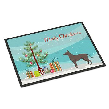 Mexican Hairless Dog Xolo Christmas Tree Indoor or Outdoor Mat 24x36 CK3570JMAT
