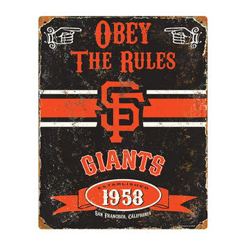 San Francisco Giants MLB Vintage Metal Sign (11.5in x 14.5in)