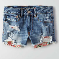 AEO Hi-Rise Denim Shortie, Horizon Blue
