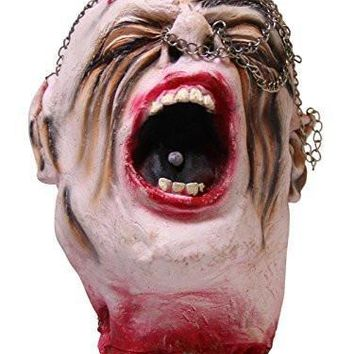 Scary Rubber Head Halloween Decoration