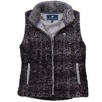 Heathered Zip Sherpa Vest in Phantom by The Southern Shirt Co. - FINAL SALE