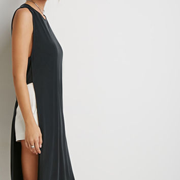 Caged Armhole High-Slit Tunic