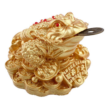 Feng Shui Money Fortune Wealth Oriental Chinese I Ching Toad Coin Home free New three-legged ornaments