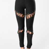 What A Stitch Leggings - Black