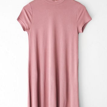 Vintage Rose Mock Neck Dress