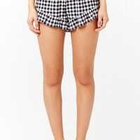Gingham Ruffle-Trim Shorts
