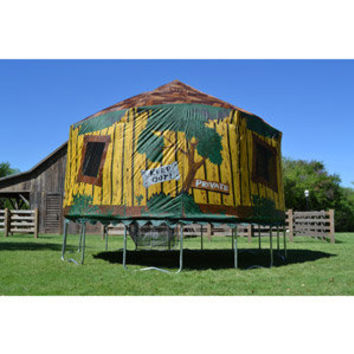 Walmart: JumpPod 15 ft Round Trampoline with Detachable Tree House Tent Enclosure