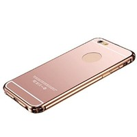 ABC(TM) 2015,New Ultra-thin Luxury Aluminum Metal Mirror Case Cover for iPhone 6 4.7'' (Rose Gold)