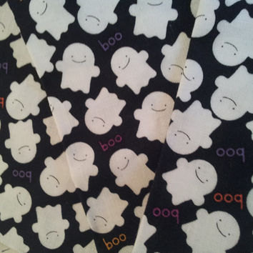 Riley Blake Quilting Cotton Fabric FQ. Trick and Treat Ghosts.