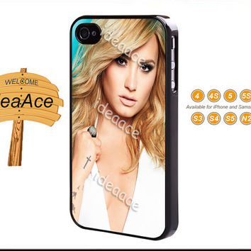 Demi lovato, iPhone 5C case, iPhone 5 case, Resin phone cases, Galaxy S4 case, Note 3 case, iPhone 4 case, Galaxy S5 case--N0059