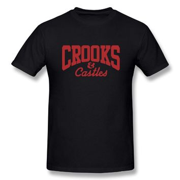 Crooks & Castles Logo Mens Fashion Short Sleeve Tshirt