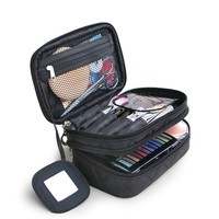 Makeup Bag Women Portable Cosmetic Bag High Quality Professional Fashion Travel Makeup Suitcase Organizer Makeup Box Pouch Bag