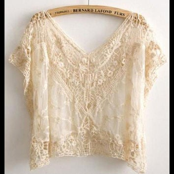 Gorgeous Hippie Lace Sheer Top
