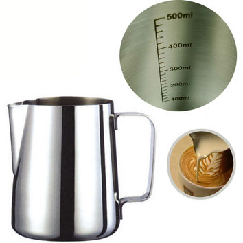 Japanese-style Thickened Stainless Steel Espresso Coffee Milk cup mugs caneca thermo Frothing Pitcher Steaming Frothing Pitcher