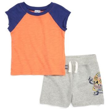 Splendid Henley T-Shirt & Graphic Print Short Set (Baby Boys) | Nordstrom