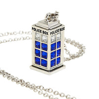 Doctor Who Bling TARDIS Necklace