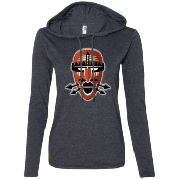 Tribal Warrior Mask Anvil Ladies' Long Sleeve T-Shirt Hoodie