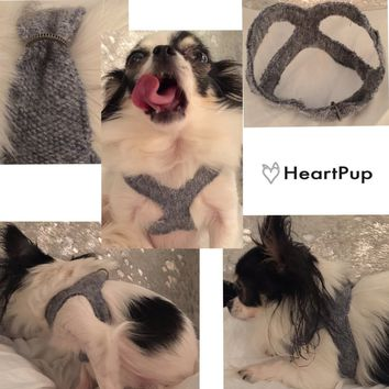 SLIP-ON DOG HARNESS COMFORTABLE COTTON FABRIC PET HARNESS
