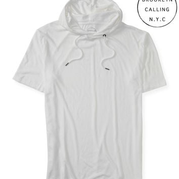 Brooklyn Calling Solid Longer Fit Hooded Tee