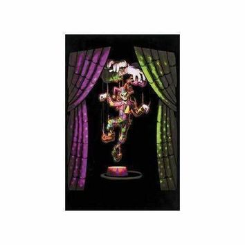 Evil Clown - Blacklight Velvet Poster