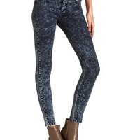 High Waist Acid Wash Skinny Jean
