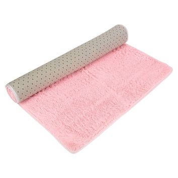 Super Soft Modern Shag Area Rugs Living Room Carpet Bedroom Rug Nonslip Bath Mat Doormat Bedroom Chenille Floor Pad