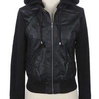 Bomber Jacket with Removable Hoodie