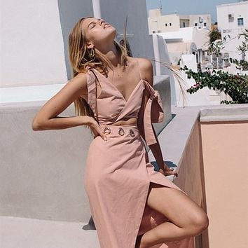 Blush Twist Maxi - Dresses by Sabo Luxe