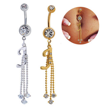 Hot Sale Navel Rings Accessory Alphabet Belly Ring [6768820935]