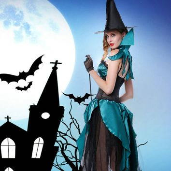 Halloween Cosplay Costumes Witch Role-playing Costumes Demon Suits Long Dress Witch hat Western Festive Carnival Party Uniforms