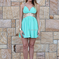 GOLDEN MOMENT DRESS , DRESSES, TOPS, BOTTOMS, JACKETS & JUMPERS, ACCESSORIES, 50% OFF SALE, PRE ORDER, NEW ARRIVALS, PLAYSUIT, COLOUR, GIFT VOUCHER,,Green,Sequin,SLEEVELESS Australia, Queensland, Brisbane