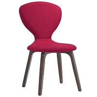 Tempest Dining Side Chair in Walnut Red