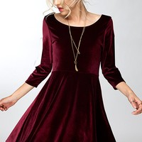 Lap of Luxury Velvet Dress [ Two Colors ]