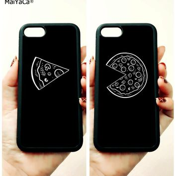pizza BFF best friends forever soft TPU edge phone case for iphone 5 5s se 6 6s 6plus 6splus 7 7plus 8 8plus X XR XS MAX case