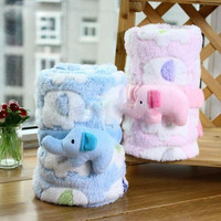 Fleece Elephant Baby's Blanket