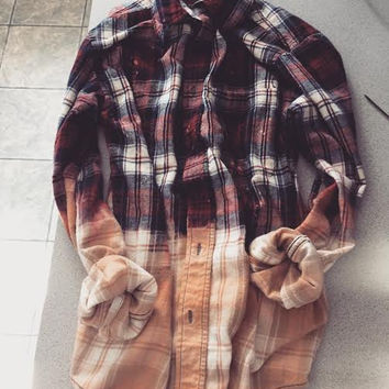 Distressed Ombre Flannel