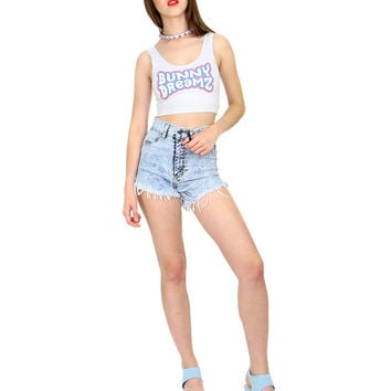 ACID WASH HIGH WASTED SHORTS
