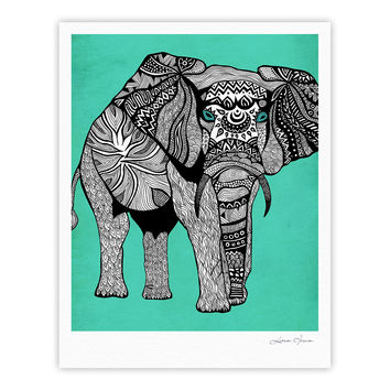 "Pom Graphic Design ""Elephant of Namibia Color"" Fine Art Gallery Print"