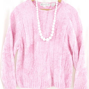 Cotton Candy Pink Sweater - Size M