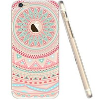 iPhone 6s Case, iPhone 6s Clear Case Pink Mandala, FEIKESI Soft Flexible TPU Transparent Clear Scratch-Proof Protective Case Cover for iPhone 6s/iPhone 6