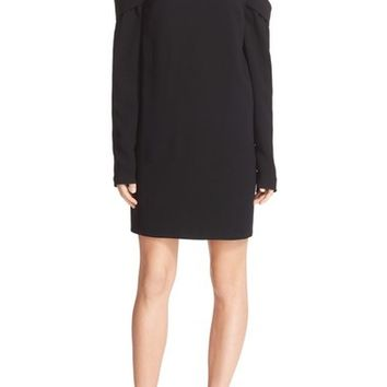 Tibi High/Low A-Line Crepe Halter Dress | Nordstrom