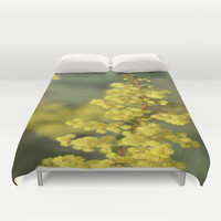 Blooming in yellow Duvet Cover by Lena Photo Art