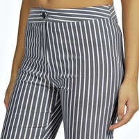 Hayley High Waisted Striped Skinny Trousers